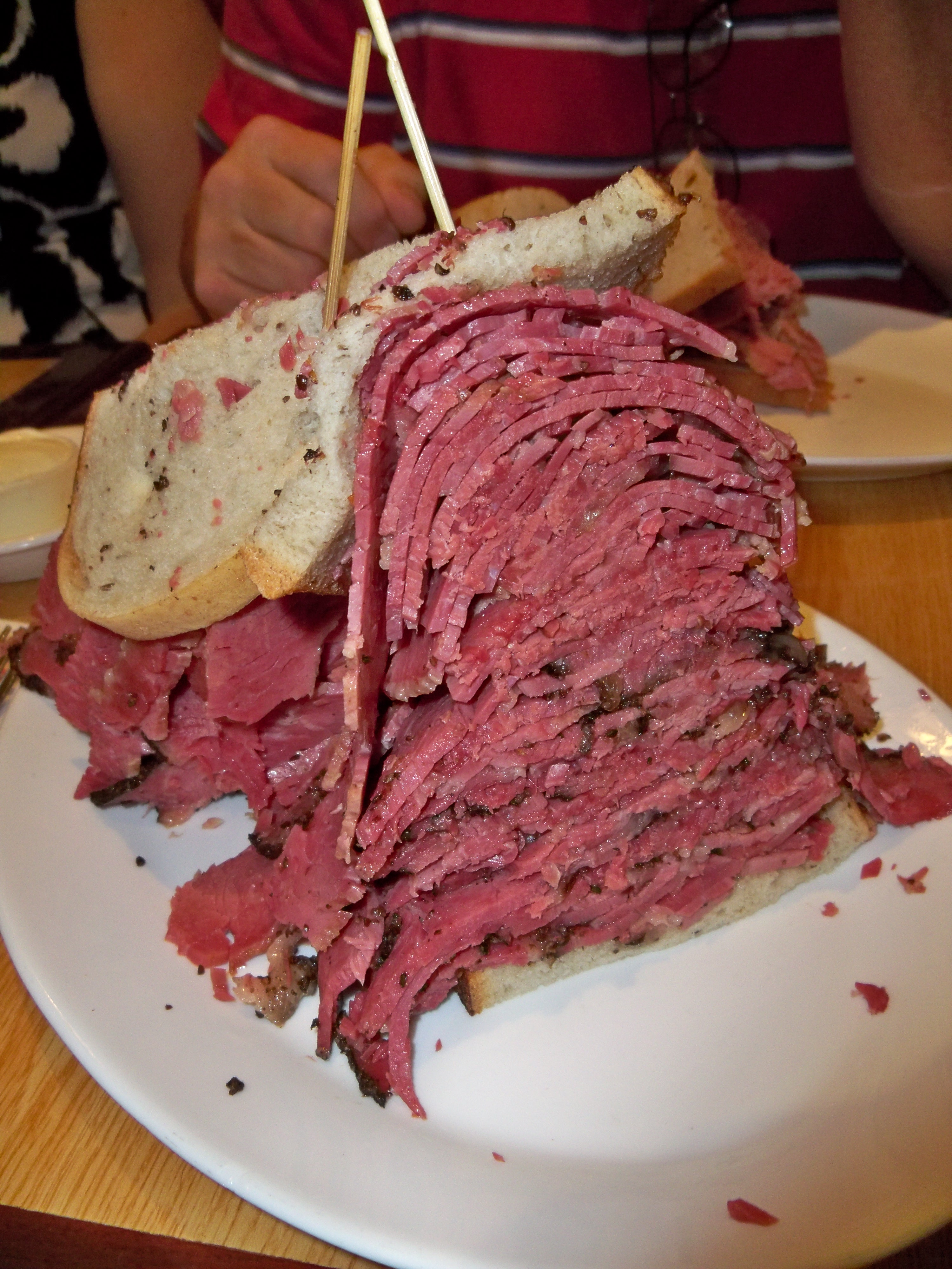 The Half Pastrami Half Corned Beef Sandwich Is A Peppery Beefy Slice Of Heaven That Puts What You Find In Nashville Grocery Stores To Shame