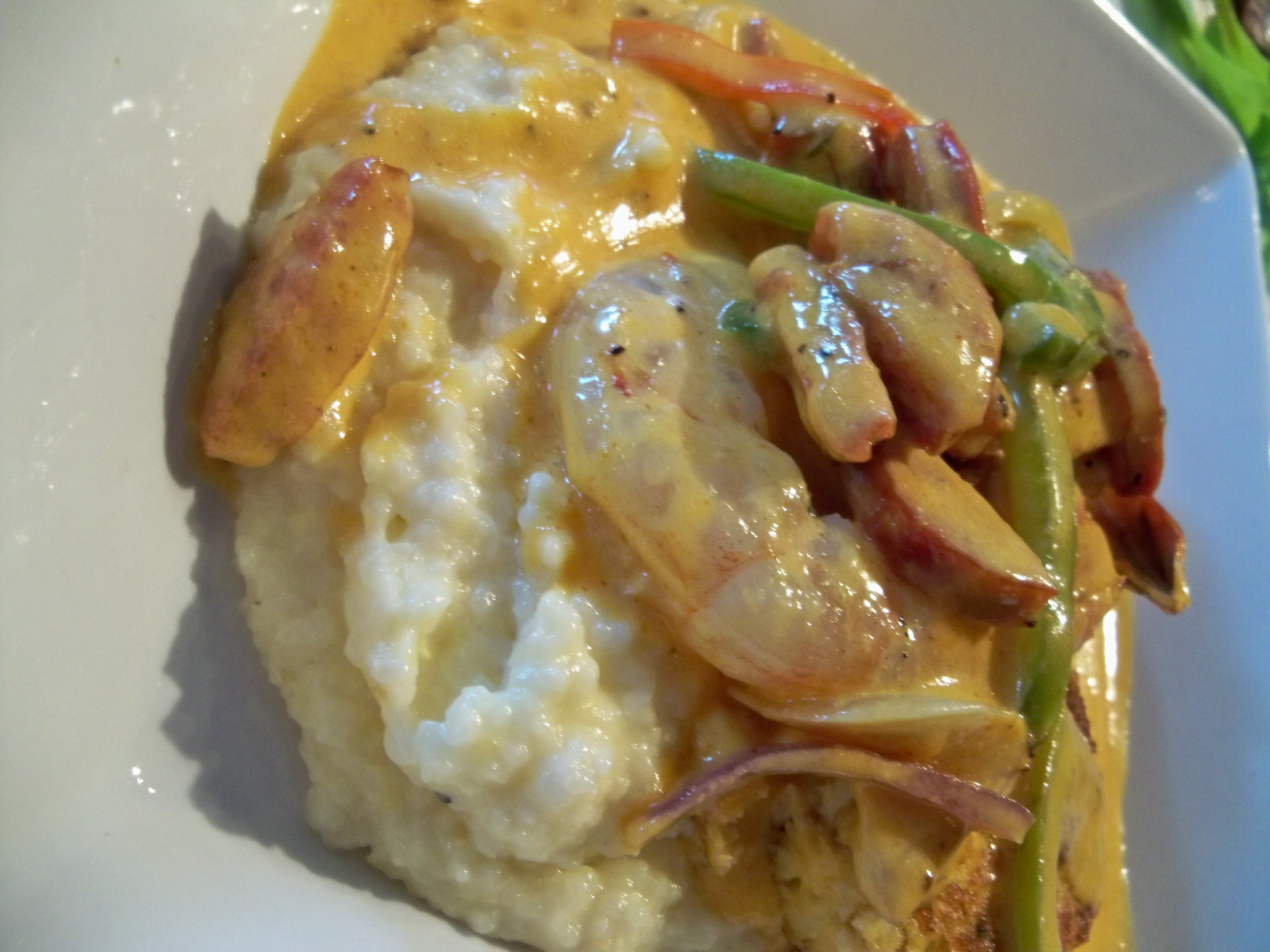 Smothered Shrimp, Andouille Sausage, And Grits Recipes — Dishmaps